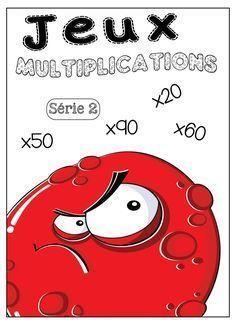 Jeux tables de multiplication Jeux à imprimer et télécharger. SERIE 2. … Math 5, Daily Math, Math Multiplication, 4th Grade Math, Math Tables, Cycle 3, Homeschool Math, Brain Teasers, Worksheets For Kids