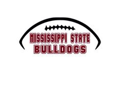 Mississippi State Bulldogs College Football Cutting Files Silhouette SVG, DXF…