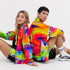 ASOS has teamed up with LGBT support organisation GLAAD for a third collection to mark Pride month with a unisex line of garments and accessories, from multicoloured snake-print shirts and neon track jackets to animal-print bags and accessories.