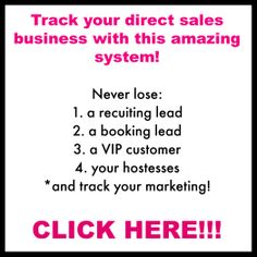 Track your personal Direct Sales Business!  Marketing tips Direct Sales Thirty-One Scentsy Mary-Kay Pampered Chef Tastefully Simple Avon