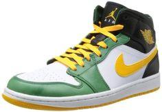 huge selection of 053c2 46849 Nike Mens Air Jordan 1 Mid Grg GrnUnvrsty GldWhiteBlk Basketball Shoes  10 Men US