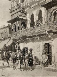 Promenade of the Rajah 1880's