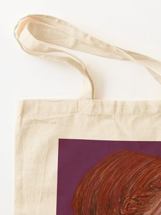 """Redhead on Purple"" Tote Bag by BlertaDK 
