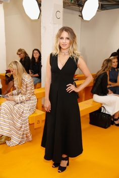 Dianna Agron attends the Emilia Wickstead show during London Fashion Week (September 17, 2016)