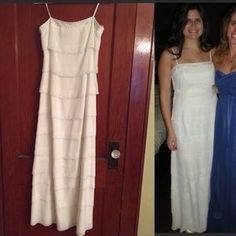 I just added this to my closet on Poshmark: Long off-white beaded vintage style dress. Price: $30 Size: 4