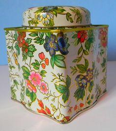 Vintage English Floral Tea Tin. $12.00, via Etsy.