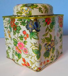 Vintage English Floral Tea Tin. $12.00, via Etsy.
