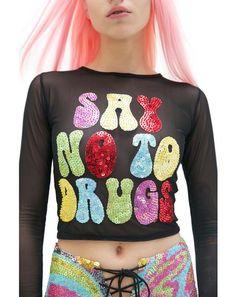 X Dolls Kill Just Say No Long Sleeve