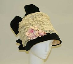 Hat    Date:      ca. 1912  Culture:      French  Medium:      silk, cotton  Dimensions:      [no dimensions available]  Credit Line:      Gift of Miss. Julia P. Wightman, 1990  Accession Number:      1990.104.1