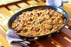 Arròs amb albergínia i tomàtiga torrada - Bojos per la cuina