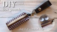 父の日に!ゴルフボールが2個入るポーチ作り方 DIY It is a pouch for two golf balls.