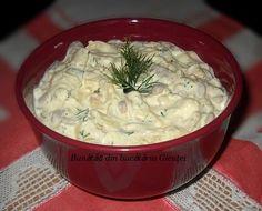 Salata de fasole galbena cu maioneza Cold Vegetable Salads, Mozzarella, Zucchini, Romanian Food, Healthy Salad Recipes, Macaroni And Cheese, Food And Drink, Appetizers, Cooking Recipes