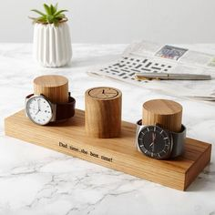 Watch Stand for Three Watches / Personalised Watch Storage / Gift for Dad / Watch Holder / Gifts for Him / Watch Display Stand / Wedding Gifts For Dad, Fathers Day Gifts, Watch Storage, Watch Holder, Birthday Gift For Him, Jewellery Storage, Jewelry Drawer, Wedding Anniversary Gifts, Organizer