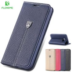 FLOVEME S6 Original Brand Luxury Flip Wallet Leather Case For Samsung Galaxy S6 G9200 With Card Slot Stand Full Phone Cover Capa