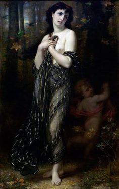 Foglie cadenti. Allegoria dell'Autunno - Hugues Merle (1823 - 1881)