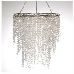 Get wedding decorations dripping in jewels like this hanging chandelier in iridescent with faux diamond cut crystals. Add light to this gorgeous, sparkling short chandelier to create a dazzling Chandelier Wedding Decor, Hanging Chandelier, White Chandelier, Wedding Vases, Wedding Decorations, Hanging Art, Chandeliers, Event Decor Direct, Pink Office