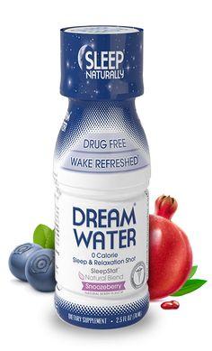 Love this stuff! Dream Water® - Sleep Aids, Natural Sleep Aids, Sleep Remedies | Dream Water ® Natural Sleep Aid and Relaxation Shot - Sleep Remedies and Sleep Tips