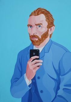 Giuseppe Veneziano: Self Shot of Vincent Van Gogh