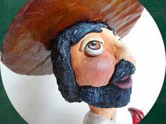 Sancho Pança - Sancho Panza - Paper Mache - www.alegriadopapel.blogspot.com