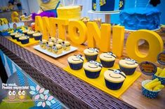 Minion themed birthday party planning, ideas, decor, cake, i Minion Party Theme, Despicable Me Party, Minion Birthday, Minion Centerpieces, Minion Baby Shower, 3rd Birthday Parties, 2nd Birthday, Birthday Ideas, Party Planning