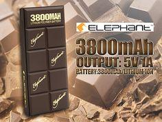 Elephant PB-004 3,800mAh Chocolate Power Bank