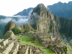 La fabulosa ciudadela Inca de Macchu Picchu en Perú.