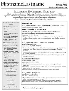 good electronic engineer technician and small business owner resume - Small Business Owner Resume