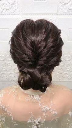 Hairdo For Long Hair, Cute Hairstyles For Medium Hair, Long Hair Video, Bride Hairstyles, Beautiful Hairstyles, Quick Hairstyles, Party Hairstyles, Front Hair Styles, Short Hair Styles Easy