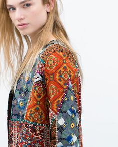 Image 5 of EMBROIDERED PRINTED JACKET from Zara