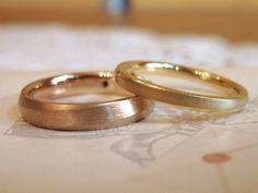 ゴールドの色違い:結婚指輪(オーダーメイド/手作り) マリッジリング,ブライダル,ウエディング,marriage,wedding,bridal,ring,K18,Gold,pink gold,イズ,ith
