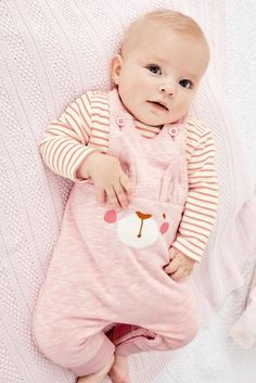 Pink Bunny Dungarees And Bodysuit Set (0mths-2yrs)