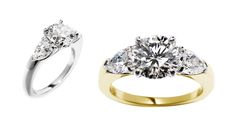 Each style can be easily customized and is available in platinum, white, yellow & rose gold.