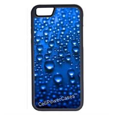 CellPowerCasesTM Water Drops iPhone 6 (4.7) V1 Black Case ($9.98) ❤ liked on Polyvore featuring accessories, tech accessories and black