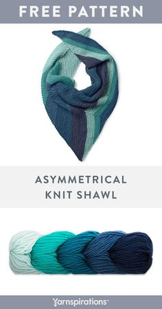 5924a513e Caron x Pantone yarn looks stunning when worked up into an asymmetrical knit  shawl. The clever placement of increases and decreases works well with the  ...