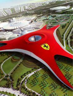 Ferrari World on Yas Island, Abu Dhabi, UAE: