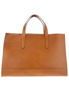 Ralph Lauren Gorgeous Saddle Tote - Great Clean Simple Lines #handbags