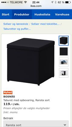 Ikea puf m opbevaring