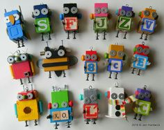 Wooden Crafts, Diy And Crafts, Arts And Crafts, Woodworking Projects For Kids, Craft Projects For Kids, Puppet Crafts, Found Object Art, Assemblage, Preschool Art