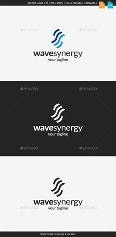 Wave Synergy Logo — Vector EPS #net #team • Available here → https://graphicriver.net/item/wave-synergy-logo/10946977?ref=pxcr