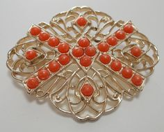 Vintage Sarah Coventry  Gold Tone Brooch by DakotaMemories on Etsy