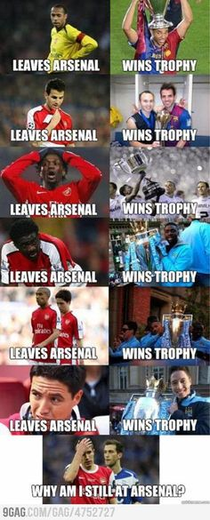 The story of Arsenal players - Funny Sports - - Every Team Has It's Ups And Downs But Think About It Arsenal Is Way Better Now The post The story of Arsenal players appeared first on Gag Dad. Funny Football Memes, Funny Sports Memes, Hilarious Memes, Funny Videos, Funny Soccer Quotes, Soccer Humor, Funny Quotes, Softball Quotes, 9gag Funny