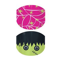 Oh you gotta love these Spooky Cute Jamberry Juniors For Halloween!!! Webs and Monsters  nail wraps by Jamberry Nails