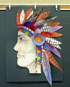 Native American: Headdress, make each feather have a fact