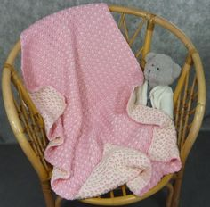 Hand made crochet baby blanket two-sided