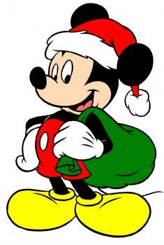 Christmas Mickey (260 pieces) Mickey Mouse Pictures, Mickey Mouse Art, Mickey Mouse Wallpaper, Mickey Mouse Christmas, Christmas Cartoons, Christmas Characters, Mickey Mouse And Friends, Disney Mickey, Diy Christmas Yard Art