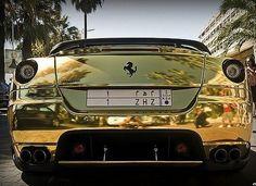 Gold Ferrari 599...