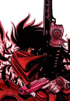 Hellsing; eyes and coolness of picture