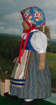 Scandinavian Style 4-piece Outfit fits 18 Inch Dolls via Etsy.