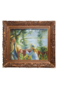 Pierre Auguste Renoir Near the Lake Framed Hand Painted Oil on Canvas