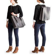 シンプルを絵に描いたような2WAYバッグ クノールのトートバッグ&リュックサック KNOLL DEBUTS A LINE OF SMART FELT BAGS (2)
